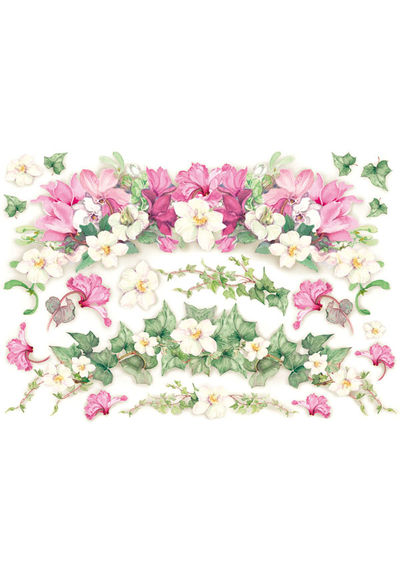 Cyclamens and Ivy - Decoupage Rice Paper