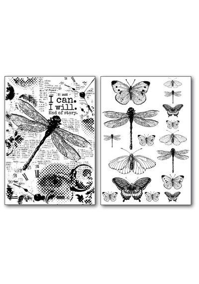 Dragonfly-Transfer Paper B/W