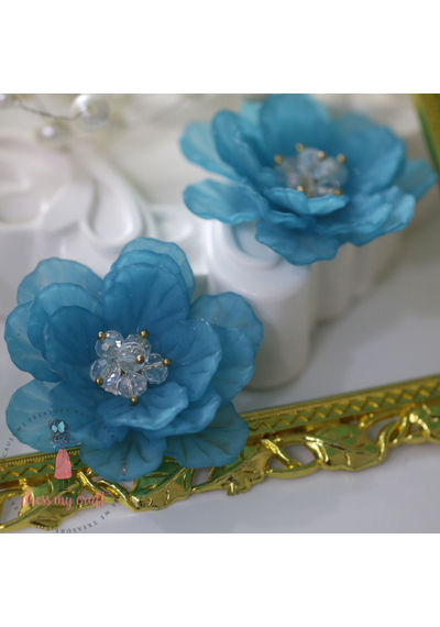 Big 3D Fairy Flowers - Blue