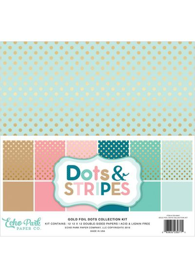 Dots & Stripes W/Gold Foil