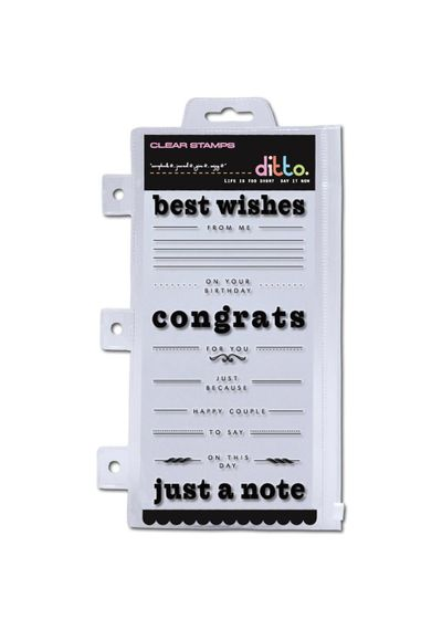 Greetings Sentiments Stamp