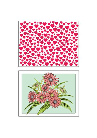 Hearts and Flowers Embossing Plate