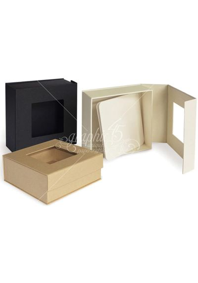 "Staples Mixed Media Box-Kraft 5""X5""X2"""