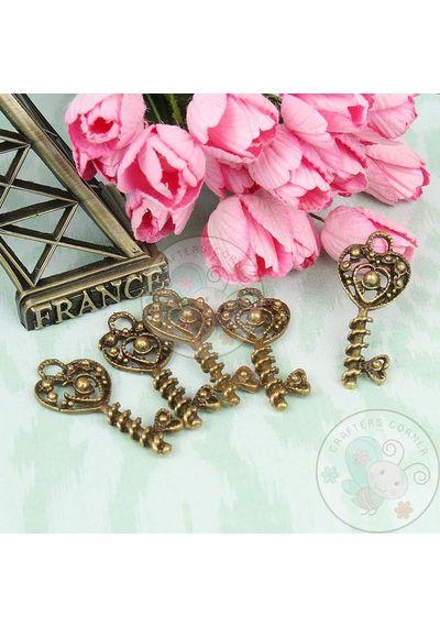 Heart Beaded Key