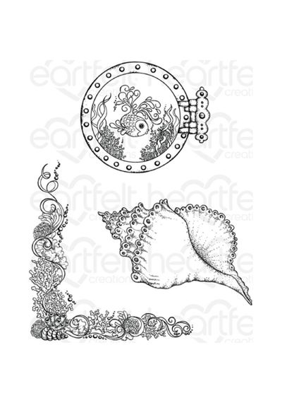 Coral Reef Collage - Stamp