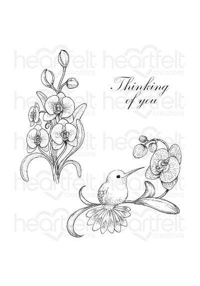 Botanic Orchid Bouquet - Stamp