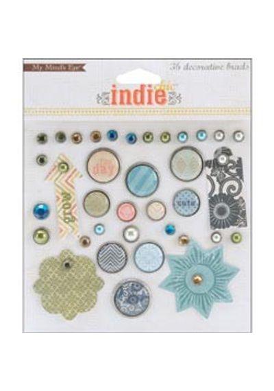 Indie Chic Citron Decorative Brads