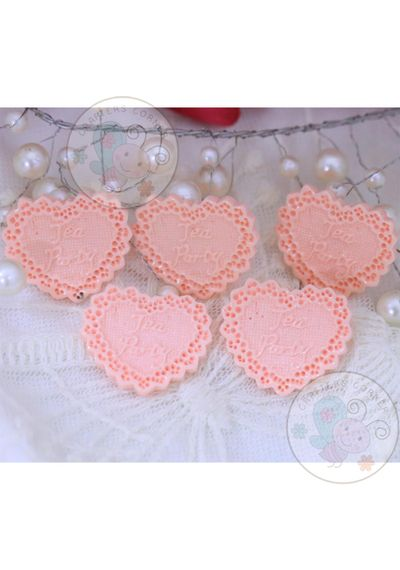 Lacy Heart - Peach