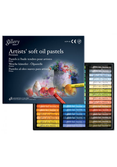 ARTISTS' SOFT OIL PASTELS-48 ASSORTED COLORS