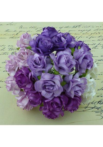 Wild Rose Combo - Purple/Lilac/White