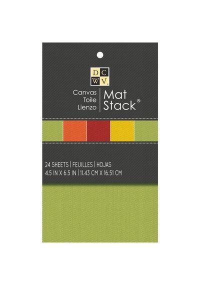 DCWV canvas mat stack