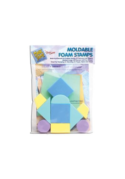Moldable Foam Stamps - Blue Color