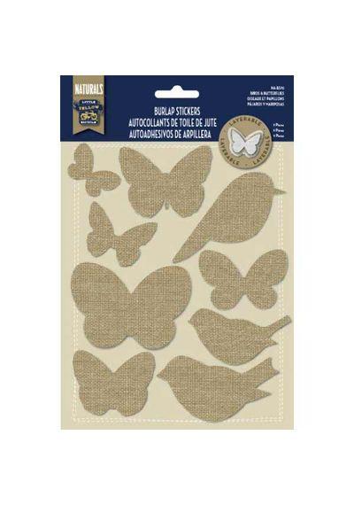 Birds and Butterflies - Burlap Stickers