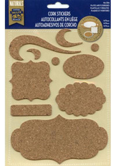 Cork Plates & Flourishes Stickers