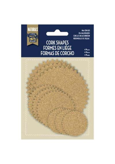 Cork Shapes - Zig-Zag Rounds