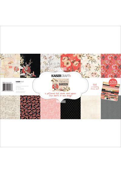 "Hanami Garden - Paper Pack 12""X12"" 12/Pkg"