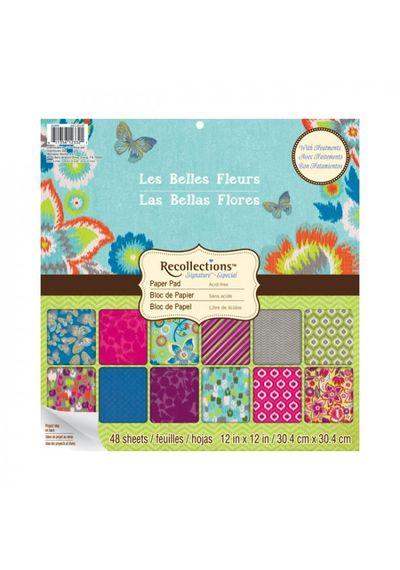 LES BELLES FLEURS 12x12 Paper Pad