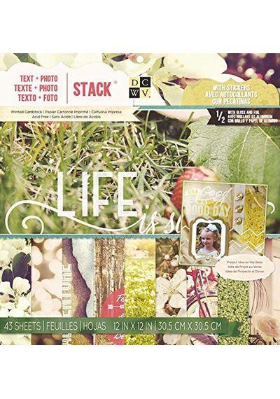 Text + Photos Cardstock
