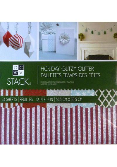 Holiday Glitzy Glitter Stack