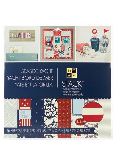 "Seaside Yacht Stack 12""x 12"""