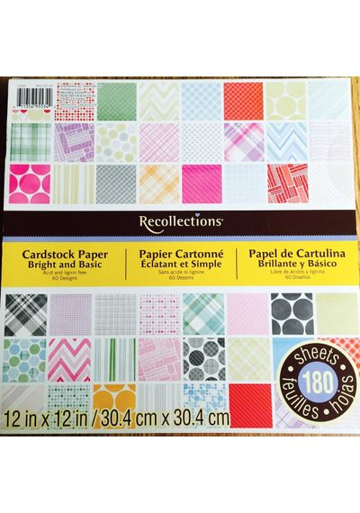 Bright & Basic - Recollections Cardstock Paper