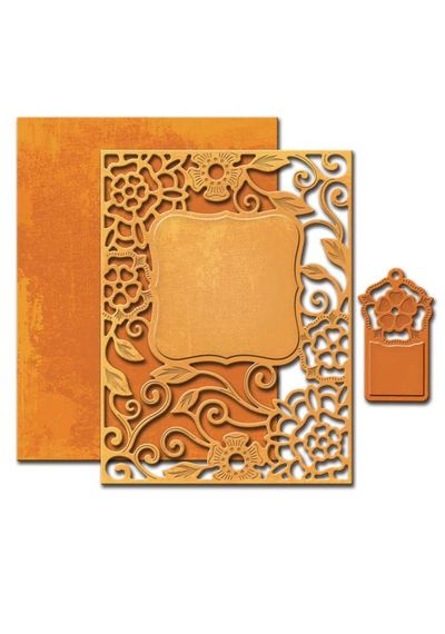 Tudor Rose Card Front - Die