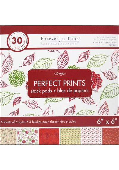 """Rouge - Perfect Prints Stacks 6""""x6"""""""