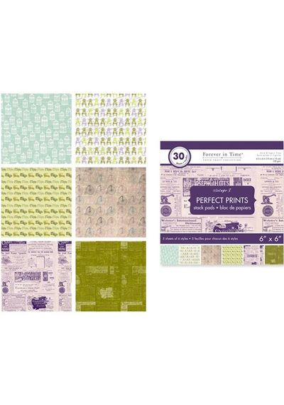 "Vintage 3 - Perfect Prints Stacks 6""x6"""