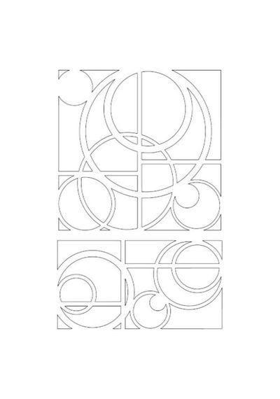 """Universe - Stencil 6"""" X 9"""""""