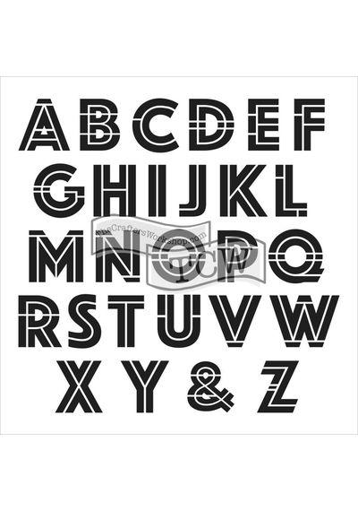 Art Deco Alphabet - Stencil