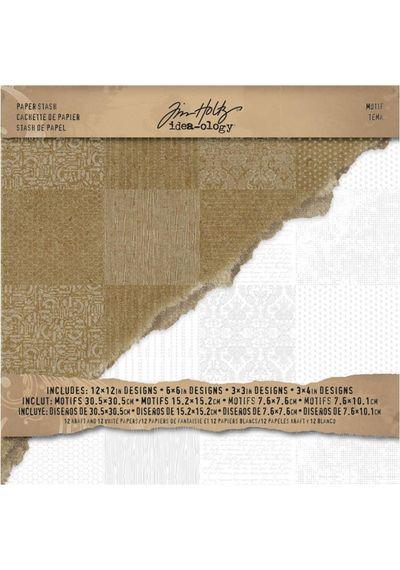 "Kraft & White - 12""x12"" Paper Pad"
