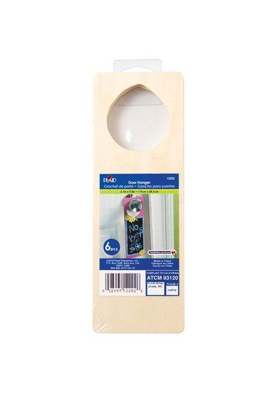 """Wood Door Hangers 6/Pkg - 10.5""""X3""""X.75"""""""