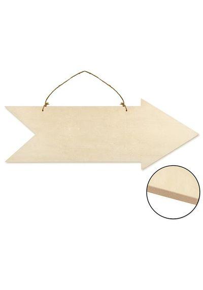 Paintable Wall Hangers - Arrow