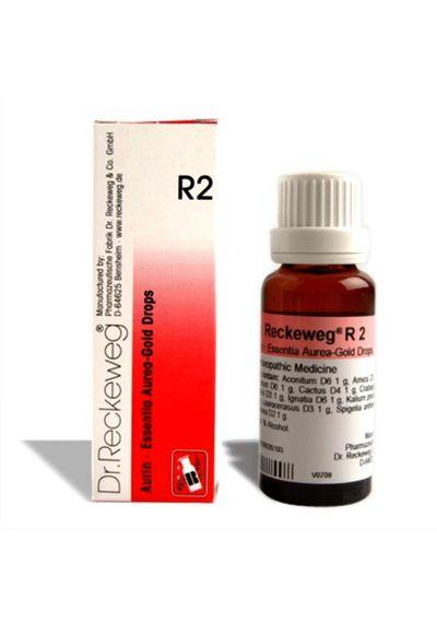 Dr.Reckeweg R2 Essentia Aurea drops for Cardiac neurosis, Angina Pectoris, Strong Pulse, Palpitations