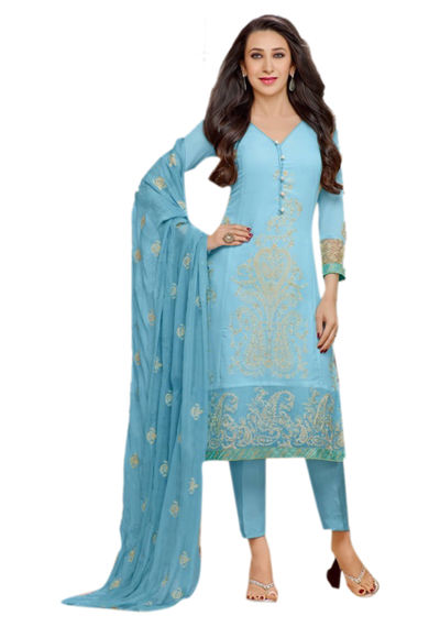 Designer Georgette Embroidery Suits