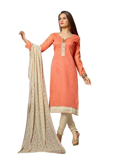 Desinger   Banarasi Chanderi Pattern [Embroidered]  Suit Dress Material