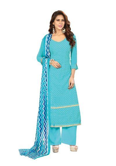 Faux Georgette Designer Dress Material Salwar Suits