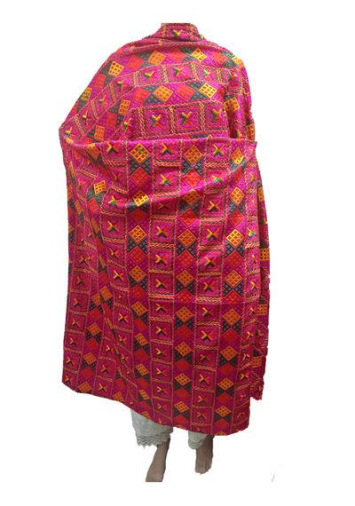 Red  Phulkari Bagh