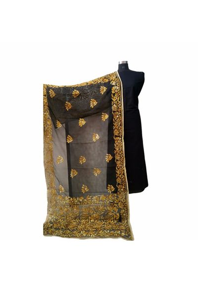 Black Golden Champa Dupatta
