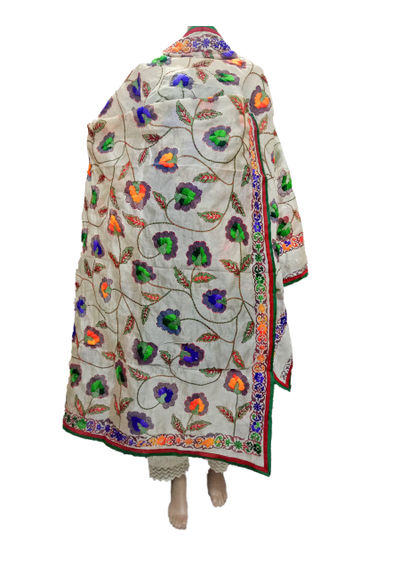 Chanderi Flower Dupatta