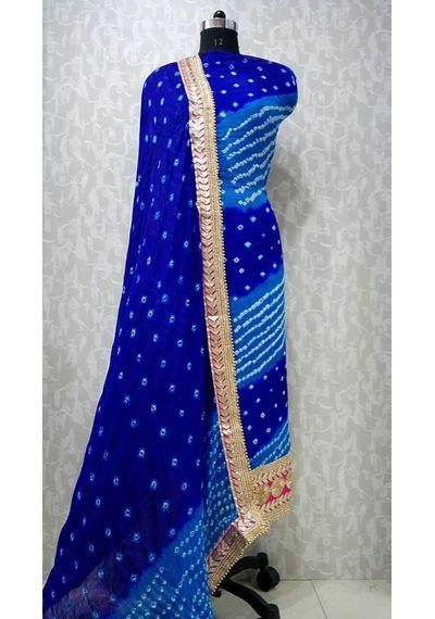 Blue -Jaipuri Bandhani Suits
