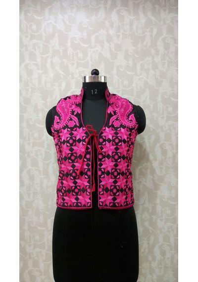 Pink Phulkari Jacket
