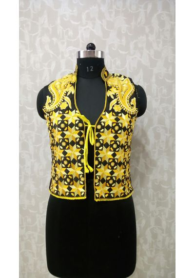 Yellow Phulkari Jacket