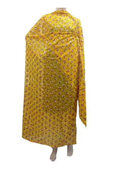 Yellow Kanchan Phulkari Dupatta