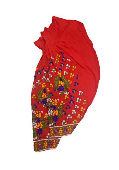 Red Phulkari Salwar