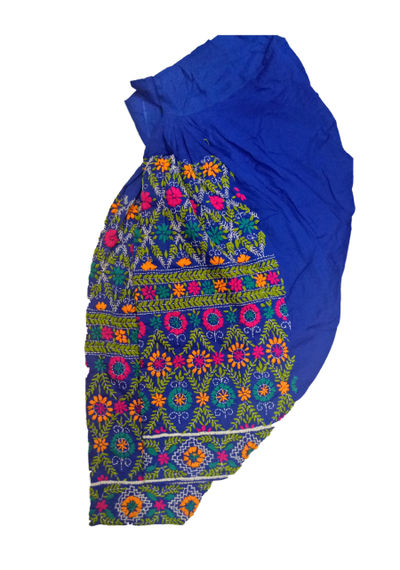 Blue Phulkari Salwar