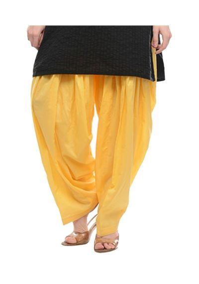 Patiala Shahi Salwar - Lemon Yellow Colour