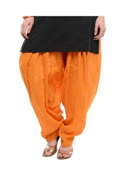 Patiala Shahi Salwar - Orange Colour