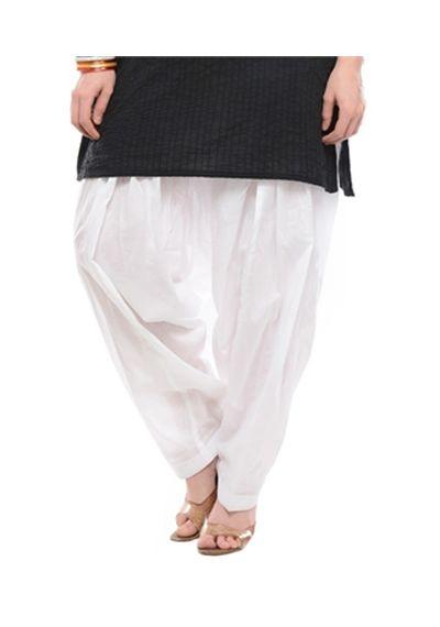 Patiala Shahi Salwar - White Colour