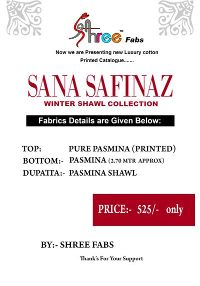 Sana Safinaz - Pashmina Collection